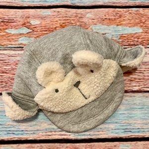 Baby Gap Sherpa Shearling Gray Hat